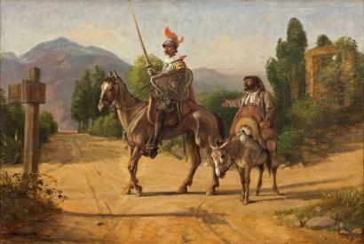 Wilhelm_Marstrand,_Don_Quixote_og_Sancho_Panza_ved_en_skillevej,_uden_datering_(efter_1847),_0119NMK,_Nivaagaards_Malerisamling.jpg